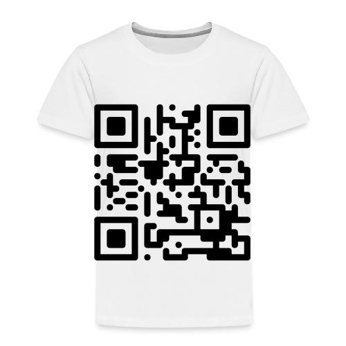 QR Codes are Dumb - Black - Toddler Premium T-Shirt