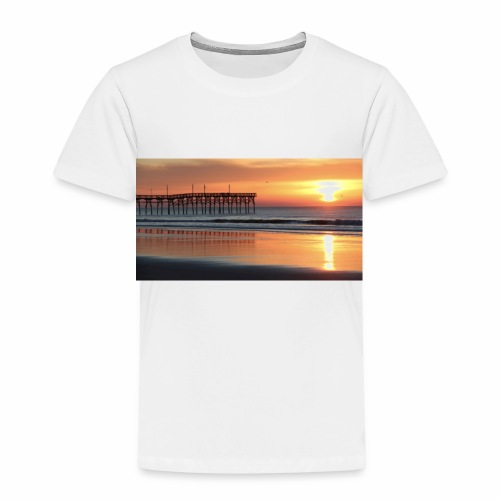 fall sunset on the beach - Toddler Premium T-Shirt