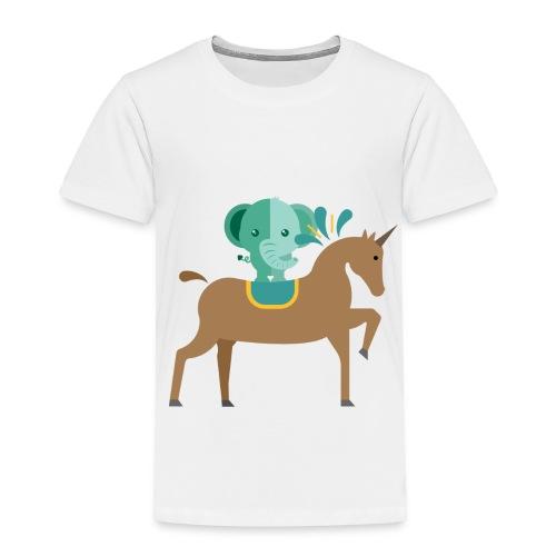 Unicorn and elephant - Toddler Premium T-Shirt