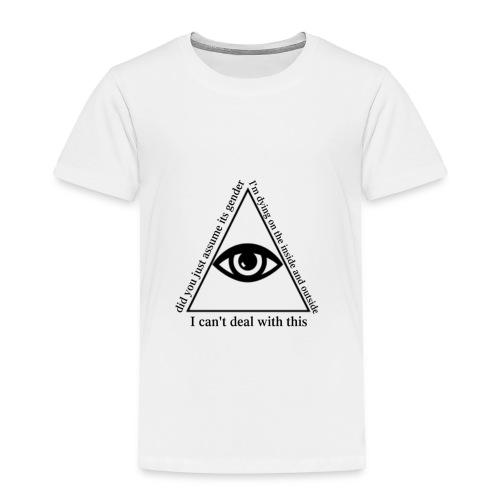 white_eye_w - Toddler Premium T-Shirt