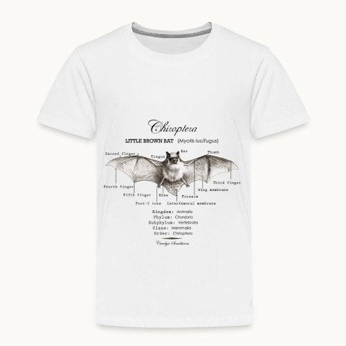 LITTLE BROWN BAT- CAROLYN SANDSTROM - Toddler Premium T-Shirt