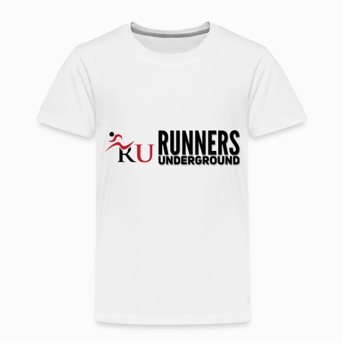 Runners Underground Logo BLK - Toddler Premium T-Shirt
