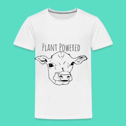 """Plant Powered"" Vegan Cow Print - Toddler Premium T-Shirt"