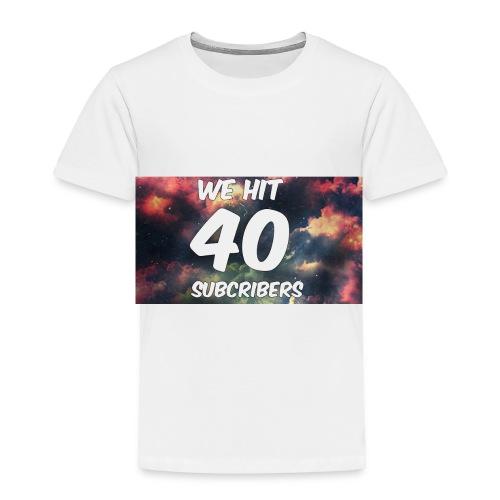Lankydiscmaster's 40 subs shirt and more - Toddler Premium T-Shirt