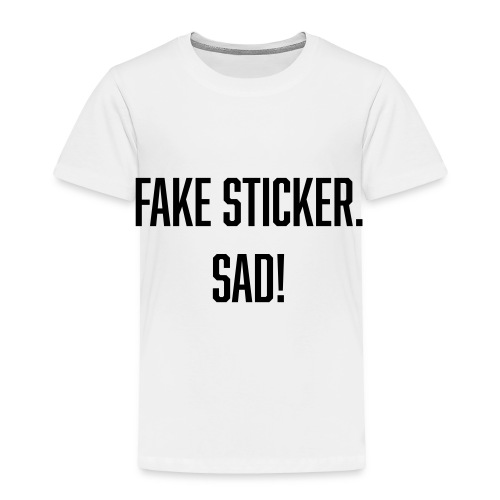 fake sticker - Toddler Premium T-Shirt