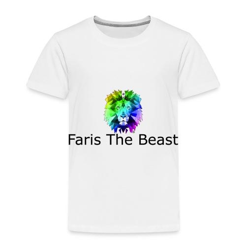 Faris The Beast Text w/ Logo - Toddler Premium T-Shirt