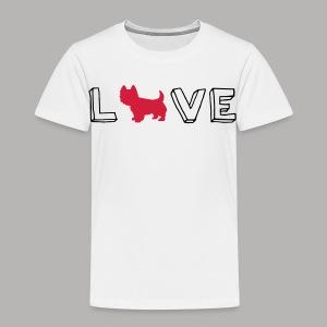 Westie Love - Toddler Premium T-Shirt