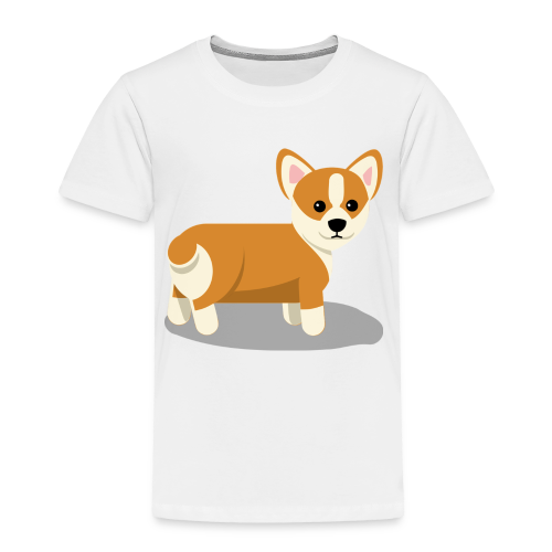 cute corgi - Toddler Premium T-Shirt