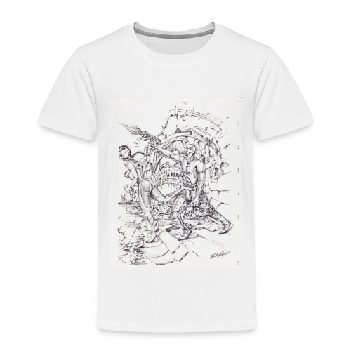 ART WORK Brother and Sister time shift - Toddler Premium T-Shirt