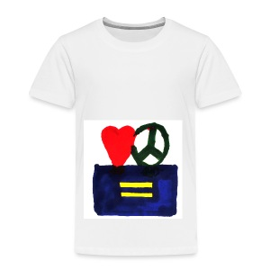 Peace, Love and Equality - Toddler Premium T-Shirt