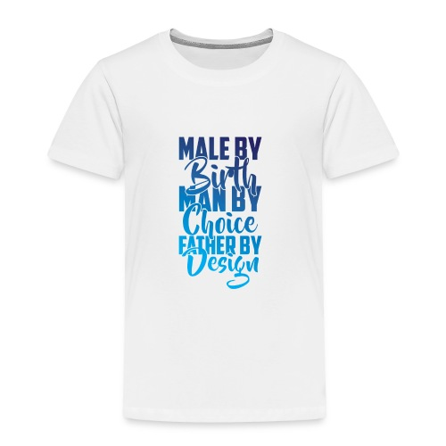 MALE BY BIRTH - MULTI BLUE - Toddler Premium T-Shirt