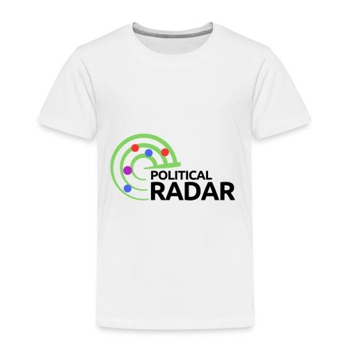 Political Radar Logo - Black - Toddler Premium T-Shirt