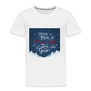 Winter Theme - Toddler Premium T-Shirt