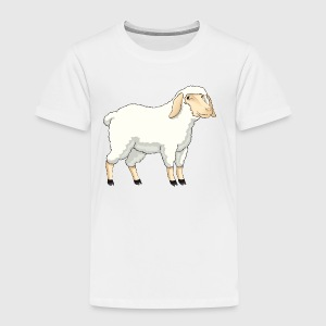 Sheep pet wildlife animal vector cartoon art goat - Toddler Premium T-Shirt