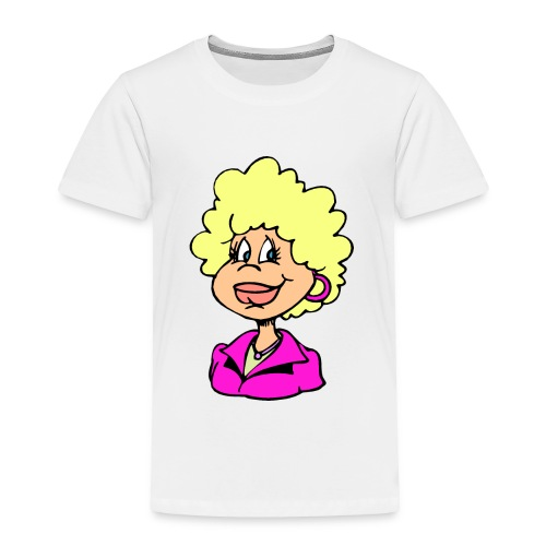 mother cartoon alone - Toddler Premium T-Shirt