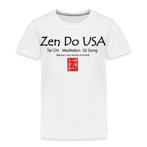 Zen Do USA logo and cell phone clothing busshist - Toddler Premium T-Shirt