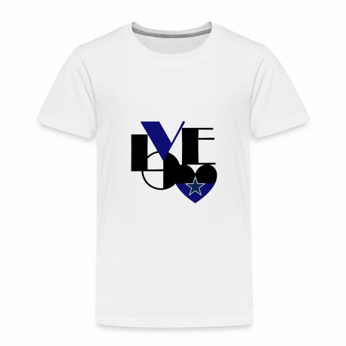 Cowboys Fan Love - Toddler Premium T-Shirt