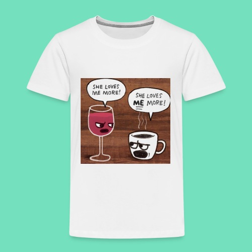 coffee v wine - Toddler Premium T-Shirt