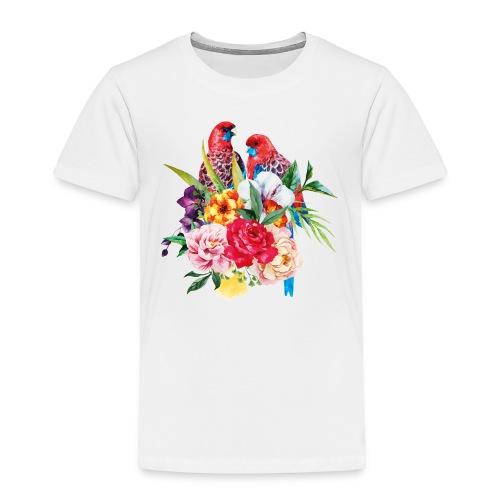 Luminous Sweet Tropical Toucan Watercolor Print - Toddler Premium T-Shirt