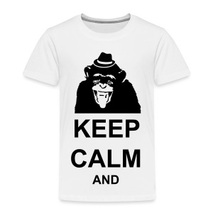 KEEP CALM MONKEY CUSTOM TEXT - Toddler Premium T-Shirt