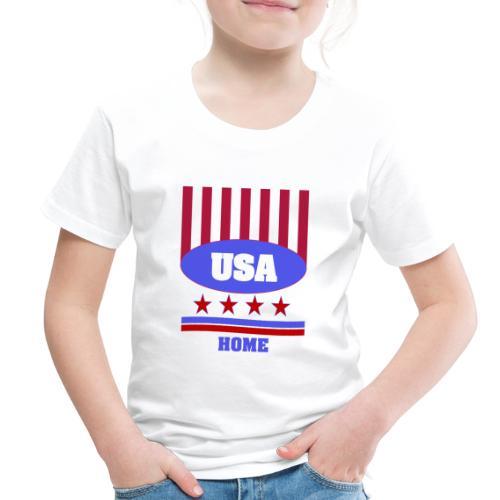 USA Flag T Shirt - Toddler Premium T-Shirt