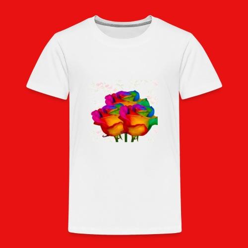 Rainbow Roses - Toddler Premium T-Shirt