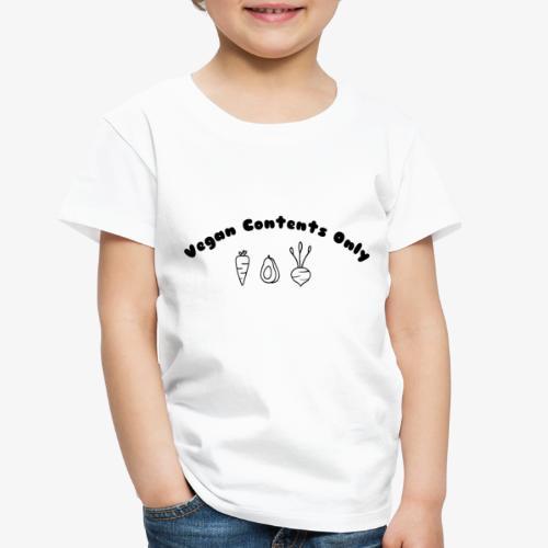 Vegan Contents Only - Toddler Premium T-Shirt