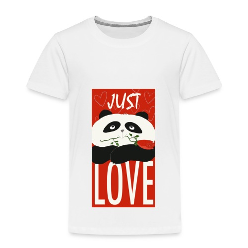 Panda Funny Romantic Cartoon Love Cute Flower - Toddler Premium T-Shirt