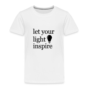 Let Your Light Inspire Sports Tank (black font) - Toddler Premium T-Shirt