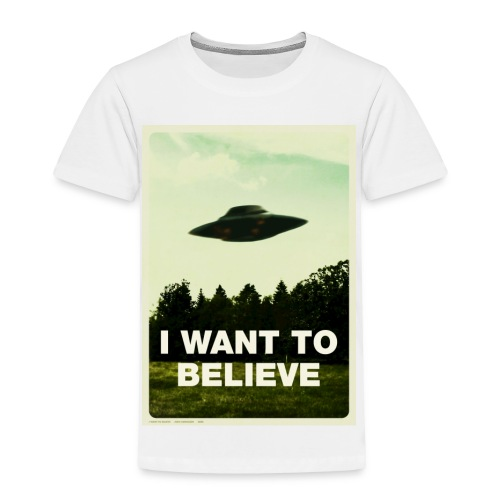 i want to believe (t-shirt) - Toddler Premium T-Shirt