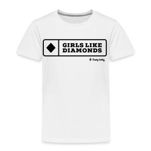 dustybetty Black Girls Like Diamonds design - Toddler Premium T-Shirt