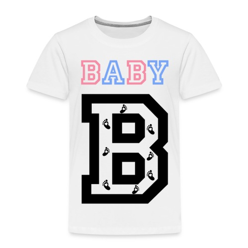 Twins- baby gender reveal for baby B - Toddler Premium T-Shirt