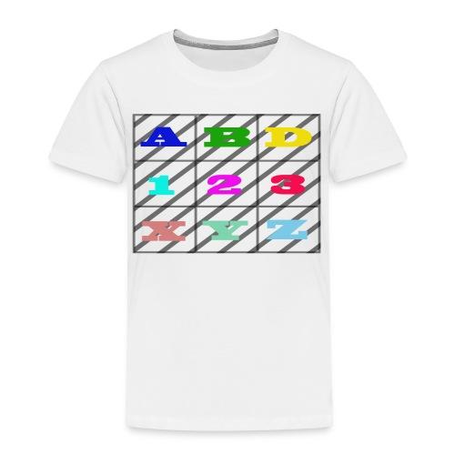 kids abc teaching - Toddler Premium T-Shirt