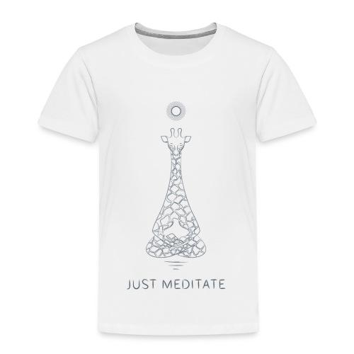Meditating Giraffe - Toddler Premium T-Shirt