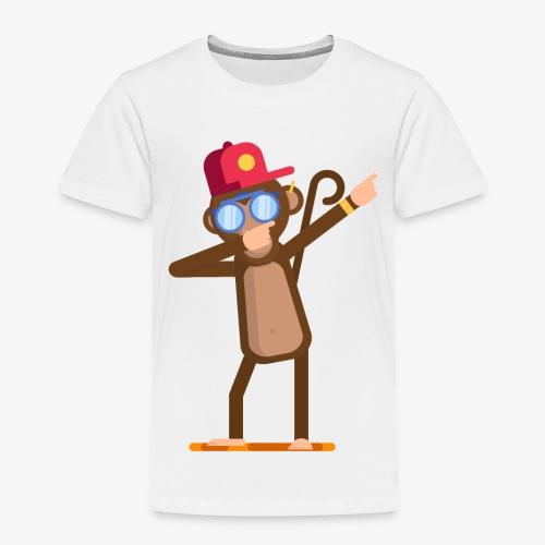 Animal doing dabbing movement - monkey - Toddler Premium T-Shirt