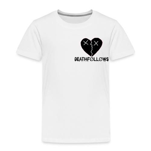Heart Shape DEATHFOLLOWS LOGO - Toddler Premium T-Shirt