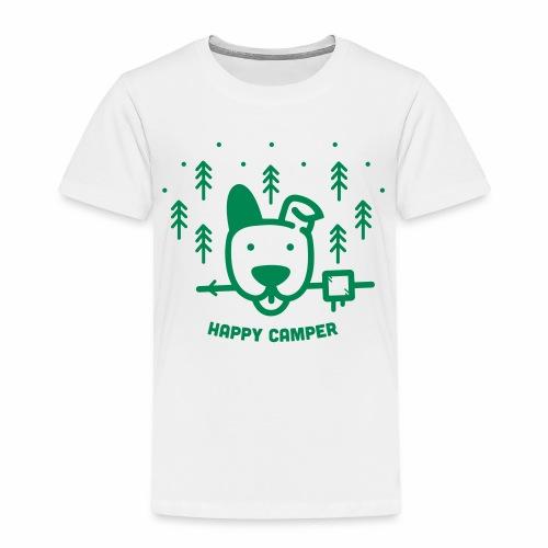Happy Camping Dog - Toddler Premium T-Shirt