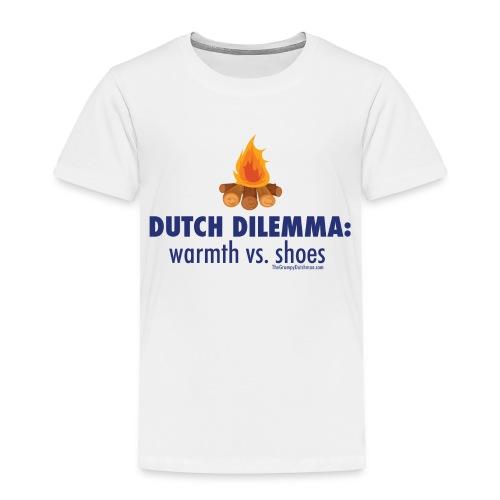 05 Dutch Dilemma blue lettering - Toddler Premium T-Shirt
