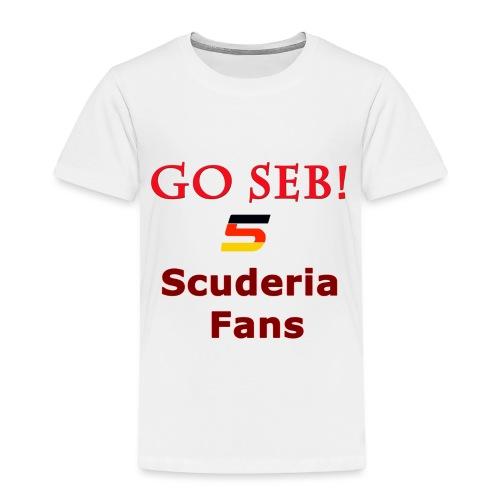 Go Seb! Scuderia Fans design - Toddler Premium T-Shirt