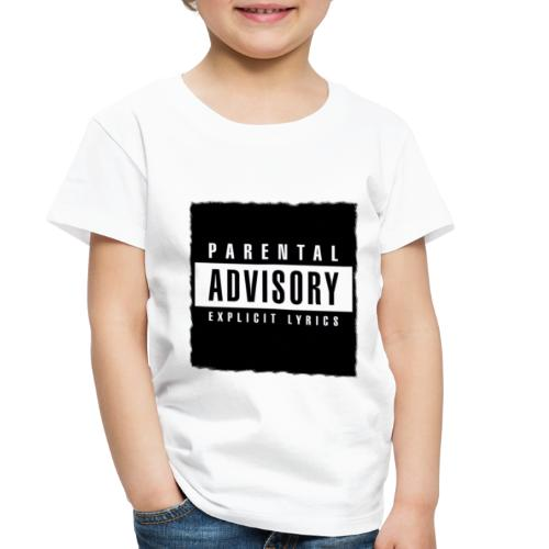 BLACK PARENTAL ADVISORY EXPLICIT LYRICS DESIGN - Toddler Premium T-Shirt