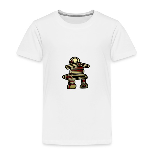 Inuksuk Totem Figure in Gold - Toddler Premium T-Shirt
