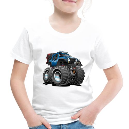 Off road 4x4 blue jeeper cartoon - Toddler Premium T-Shirt