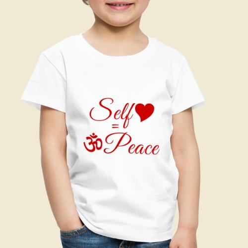 108-lSa Inspi-Quote-83.b Self-love = OM-Peace - Toddler Premium T-Shirt