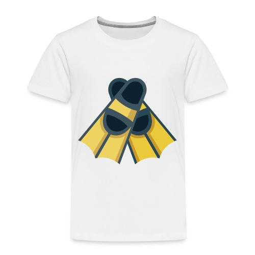 Diving Flippers - Toddler Premium T-Shirt