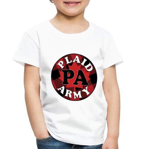 plaid army round - Toddler Premium T-Shirt