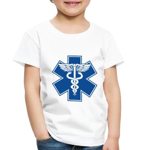 EMT Health Care Caduceus Blue Medical Symbol - Toddler Premium T-Shirt