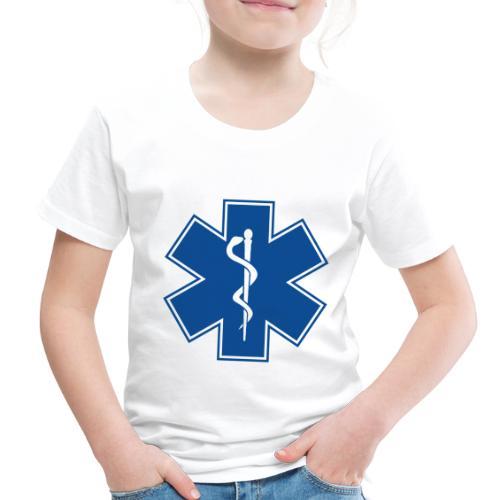 EMT Health Care Rod of Asclepius Medical Symbol - Toddler Premium T-Shirt