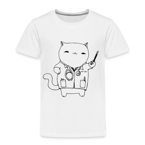 Cat Vet by Cassie Kitty Cassandra Graus (Black) - Toddler Premium T-Shirt