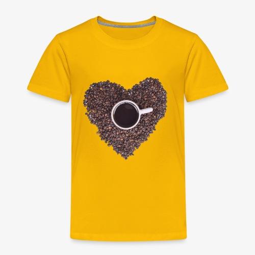 I Heart Coffee Black/White Mug - Toddler Premium T-Shirt