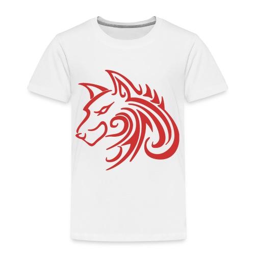 3d31c4ec40ea67a81bf38dcb3d4eeef4 wolf 1 red wolf c - Toddler Premium T-Shirt